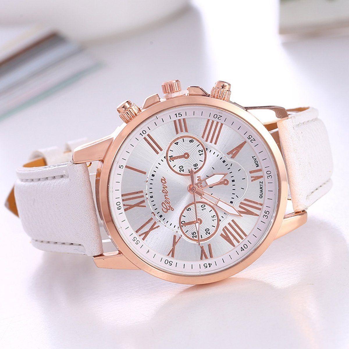 537460e87d4 relógio feminino rose e branco luxo lindo geneva promoção. Carregando zoom.