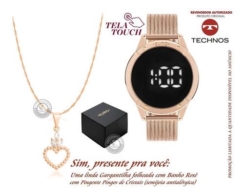 relógio feminino sabrina sato digi led euro touch original +