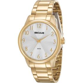 Relógio Feminino Seculus 20567lpsvds1, C/ Garantia E Nf