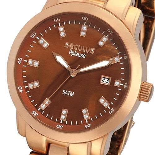 7203fb496ee Relógio Feminino Seculus Analógico Fashion Glamour Aplause - R  130 ...