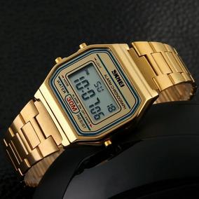 86e5b931094f Relogio Dourado Feminino Camelo Masculino Casio - Relógios De Pulso ...