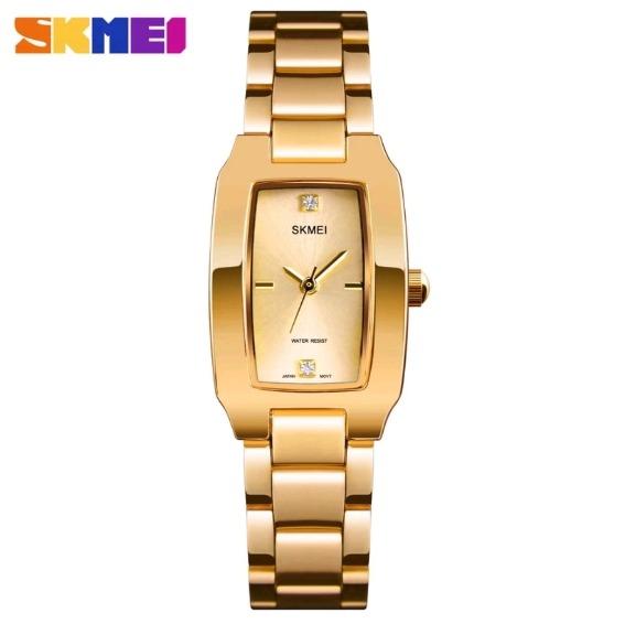 a643d12d170 Relogio Feminino Skmei 1400 Aço Inox Luxo Dourado Prata - R  73