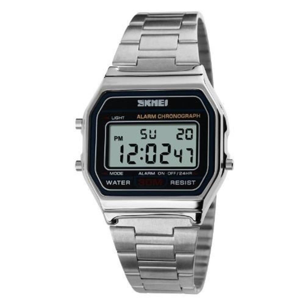 73b12a437f1 relógio feminino skmei digital 1123 prata vintage. Carregando zoom.