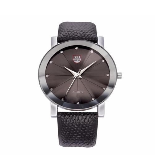 relógio feminino social  quartz pulseira couro preta