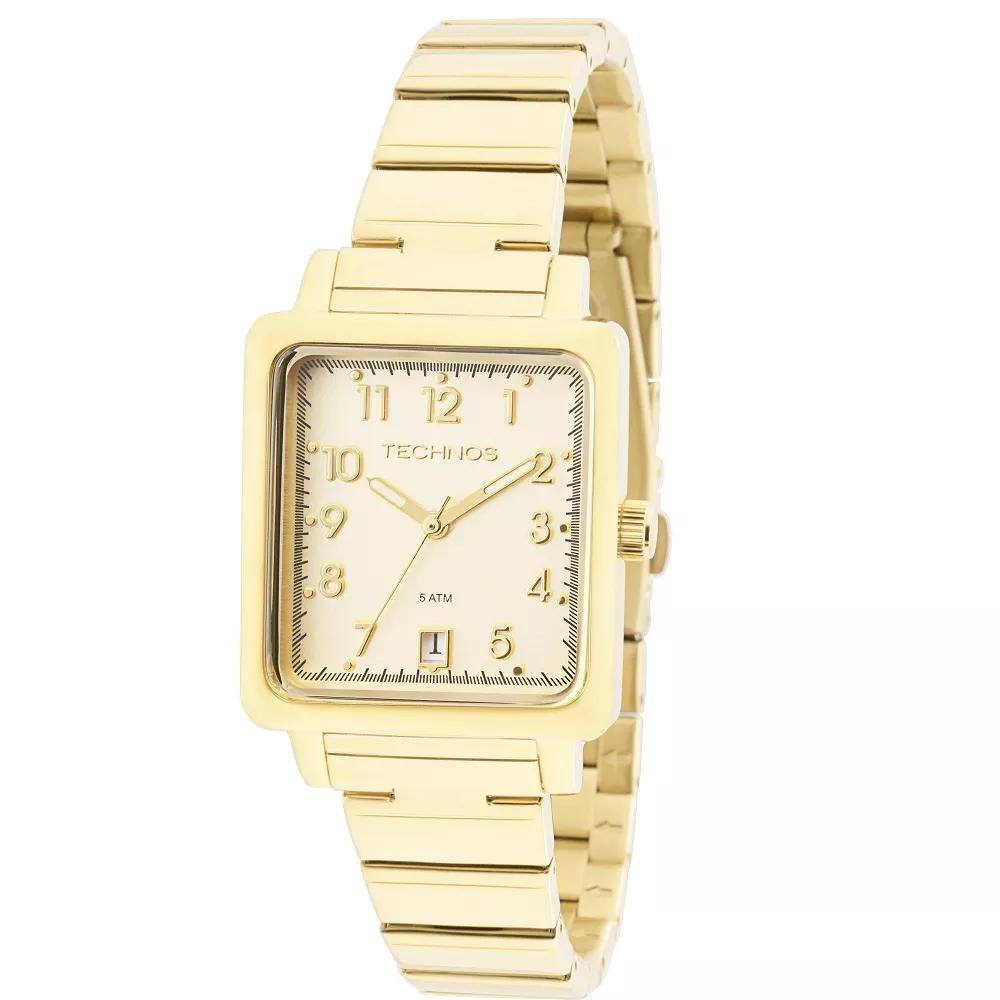 f3876d1dbc68b Relógio Feminino Technos 2115kpj 4d Boutique Dourado - R  234,95 em ...