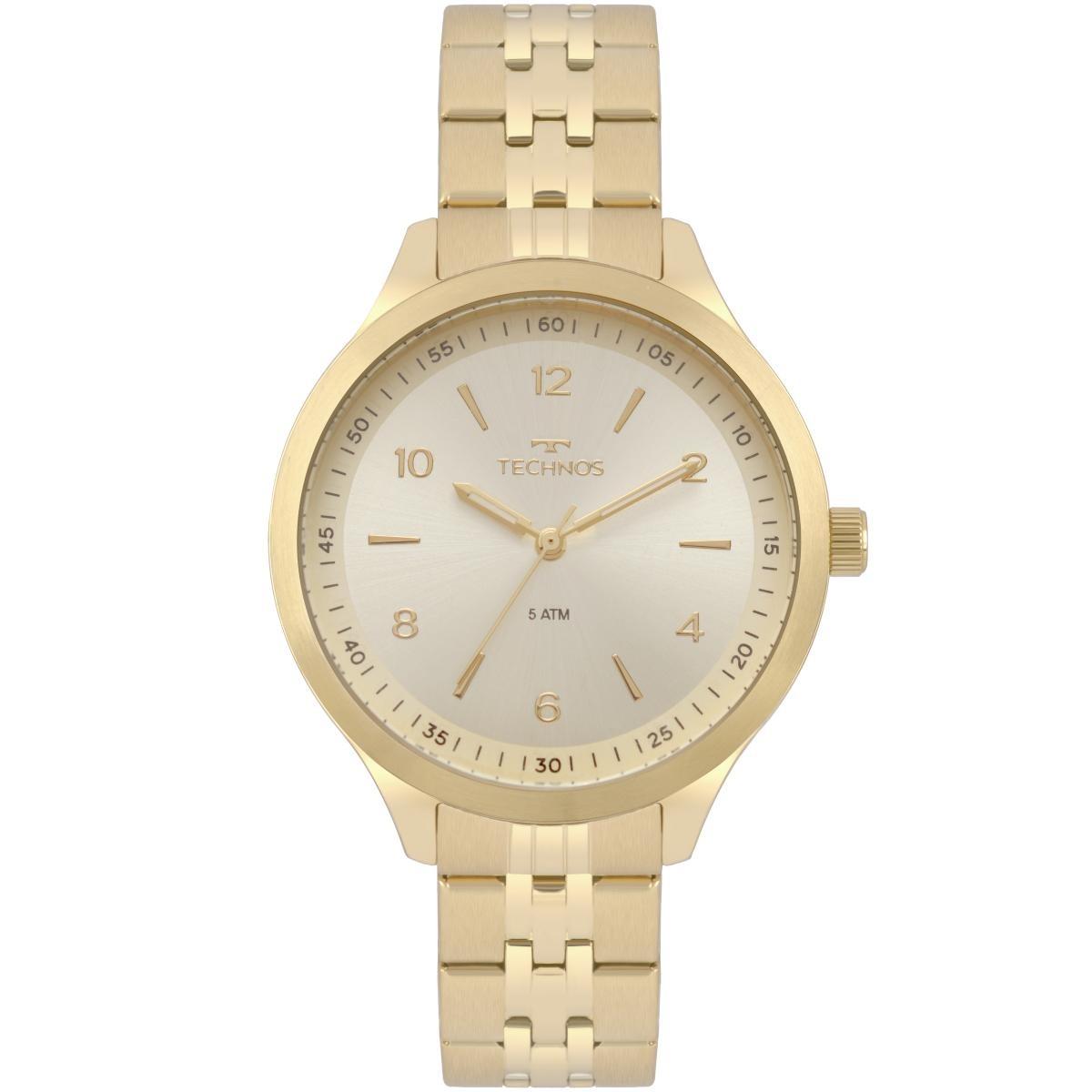 644f3744fd0 Relógio Feminino Technos Dress 2035mot 4x 40mm Aço Dourado - R  231 ...