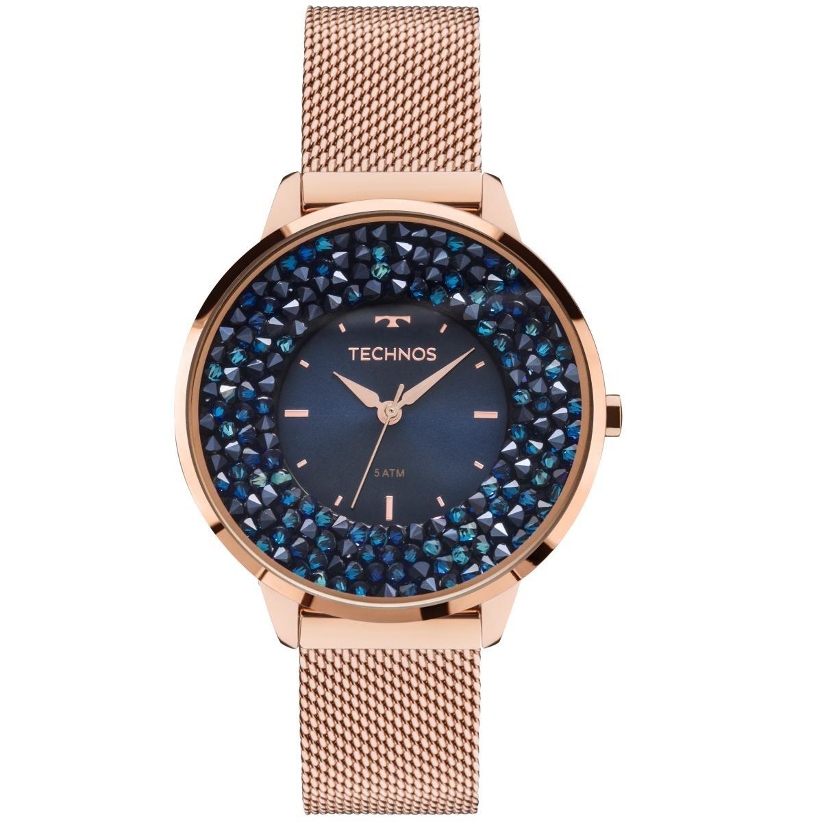Relógio Feminino Technos 2035mle 4a 38mm Aço Rose - R  476,95 em ... 2b72af266e