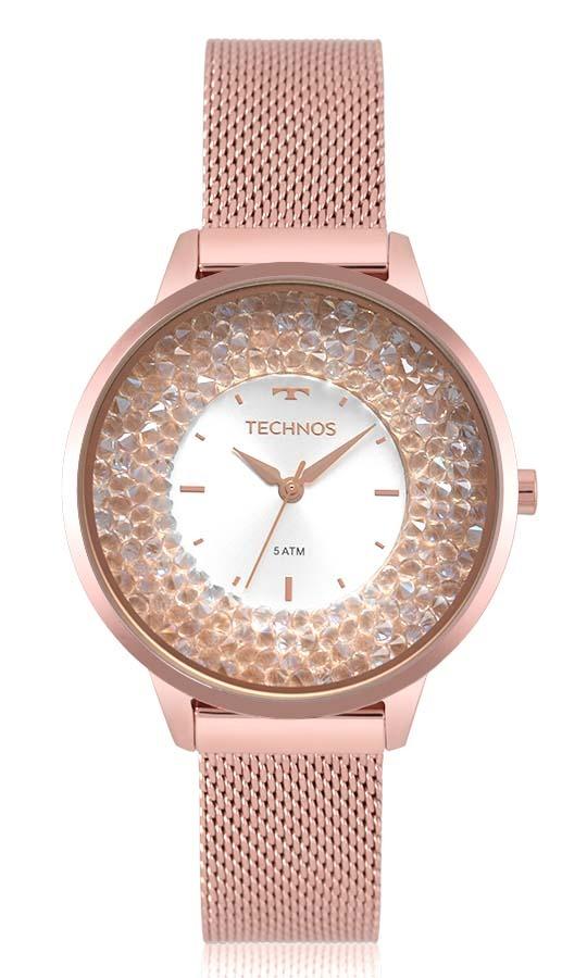 2f11b049017a1 Relógio Feminino Technos Rosé 2035mqb 5k Original Oferta - R  539,00 ...