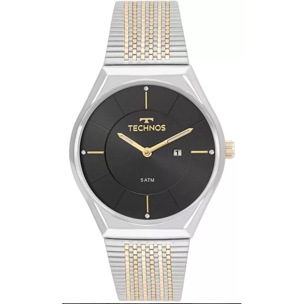 47a83fc77fea4 Relógio Feminino Technos Fashion Gl15as 5p - Prata dourado - R  274 ...