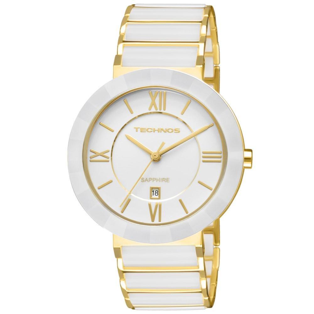 c0f202d9430 Relógio Feminino Technos Ceramic 2015bv 4b Aço Dourado - R  622