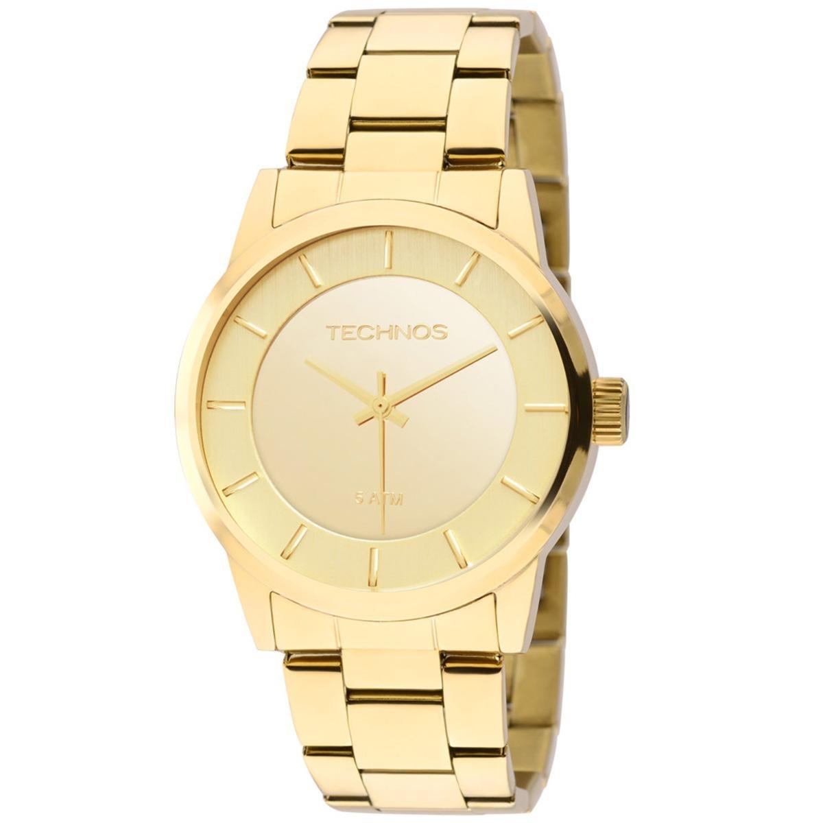 379807f0a8a68 Relógio Feminino Technos Trend 2035lqa 4d 38mm Aço Dourado - R  286 ...