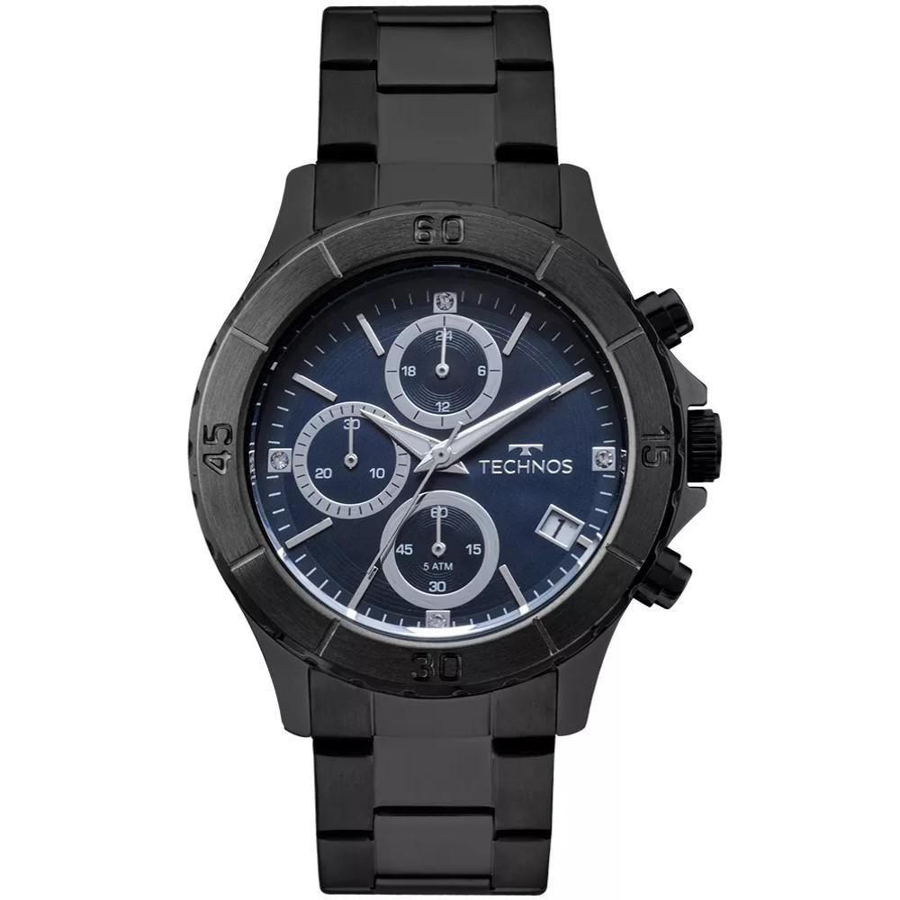 e25be08e155db Relógio Feminino Technos Js15fl 4a Aço Preto - R  444,95 em Mercado ...