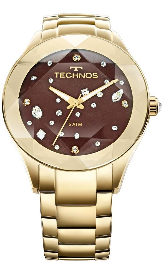 relógio feminino technos analógico com cristais swarovski. Carregando zoom. 6041a55298