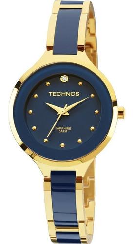 relógio feminino technos ceramic sapphire 2035lyv/4a