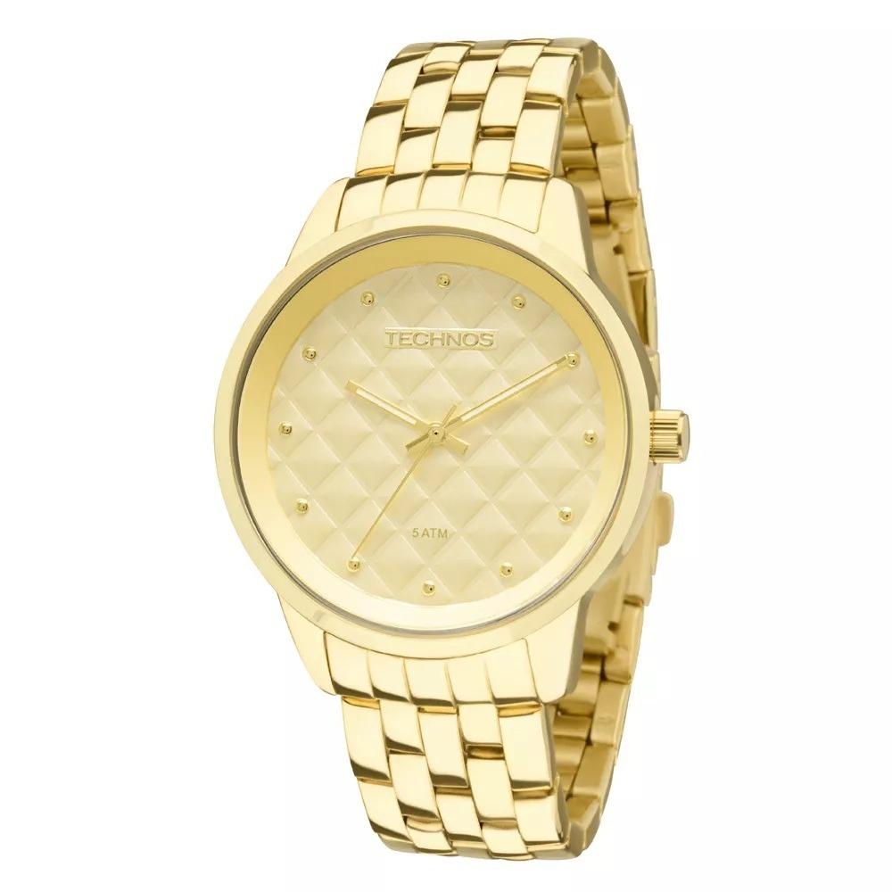 fa2b7b71c70 relógio feminino technos dourado fashion 2035lwm 4x. Carregando zoom.