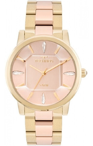 relógio feminino technos elegance cristal 2039bs/4t