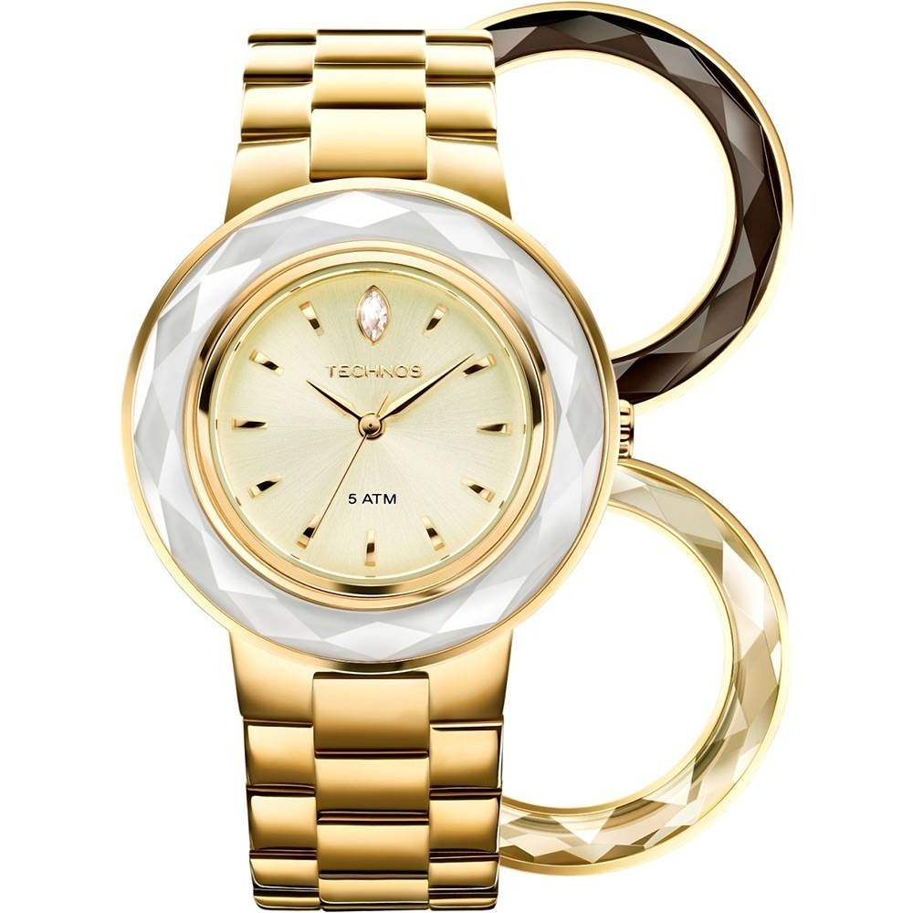 1053f6aab309f relógio feminino technos fashion com swarovski 2035lmr 4x. Carregando zoom.