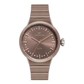 Relógio Feminino Technos Icon 2036mju/4m 40mm Aço Marrom
