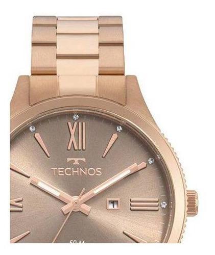 relógio feminino technos rosé 2015ccr 4m