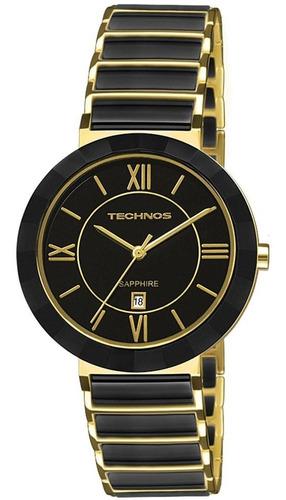 relógio feminino technos shaphire 2015ce/4p cerâmica preta
