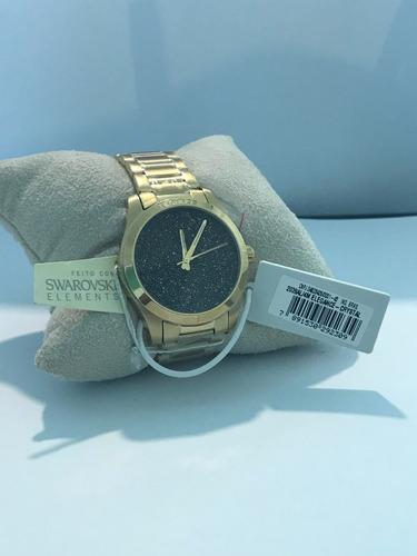 relógio feminino technos swarovski