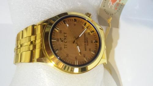 relógio feminino tecnet 62828ch resistente a água  black