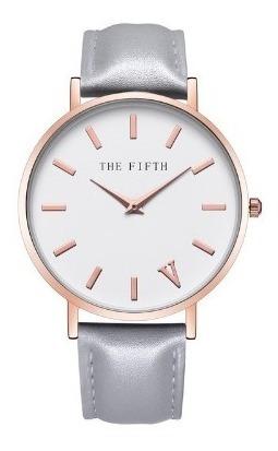 relógio feminino the fifth pulso quartzo de couro