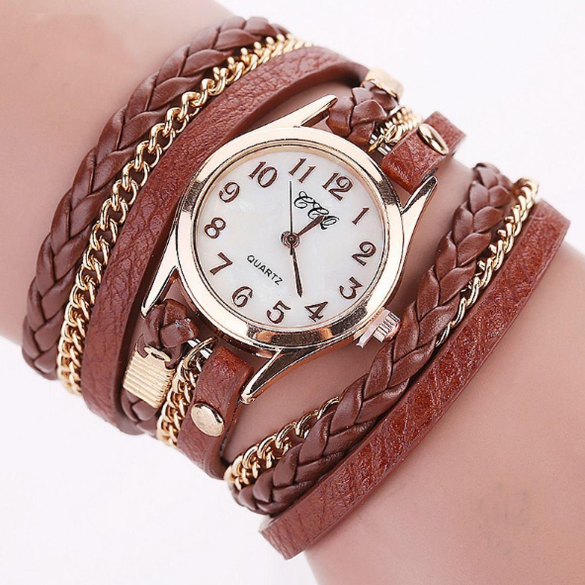 52f7c8e314e relógio feminino tipo bracelete bonito couro frete gratis. Carregando zoom.