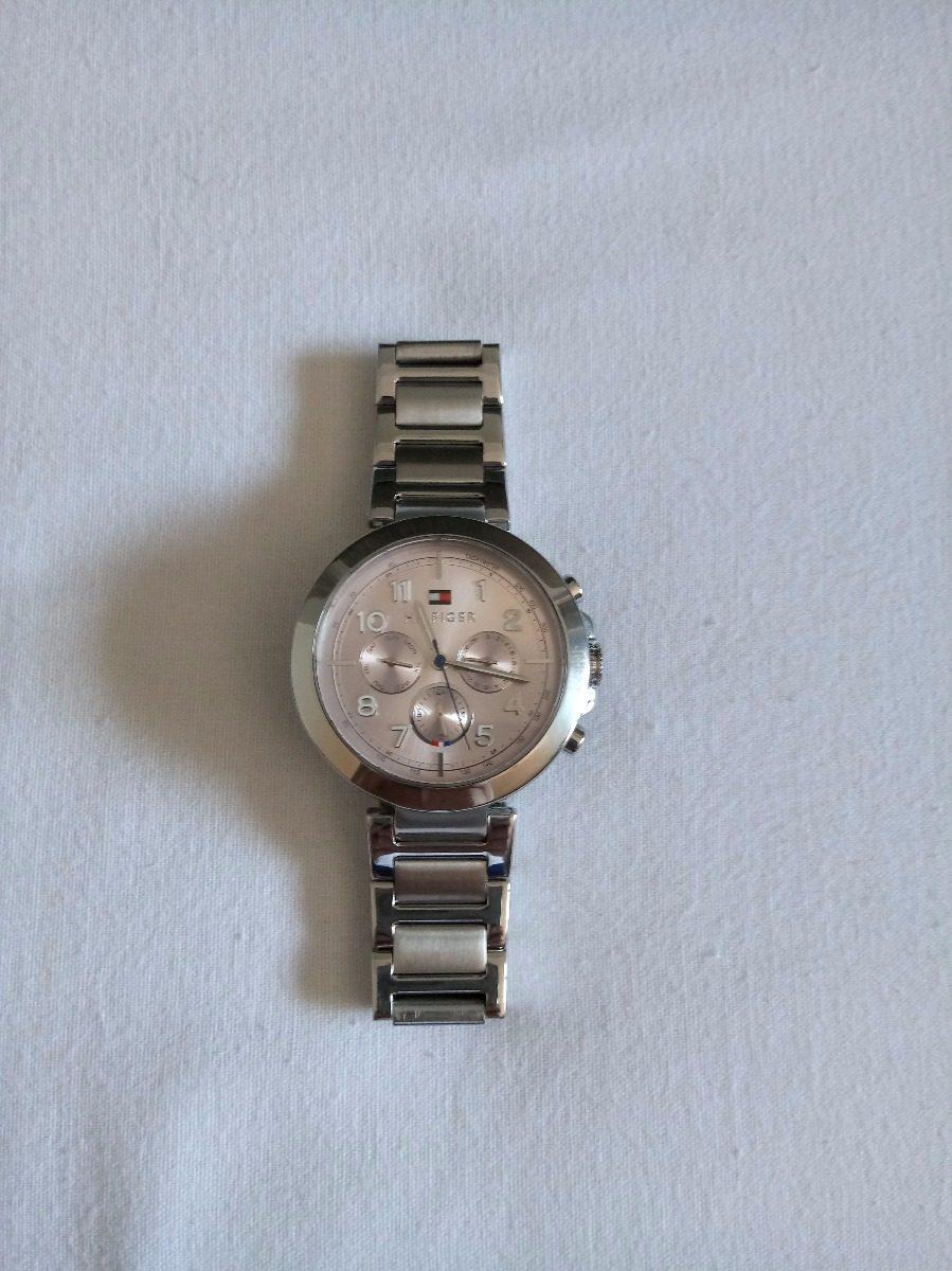 80551a49e6e relogio feminino tommy hilfiger de aço fundo rosa claro. Carregando zoom.