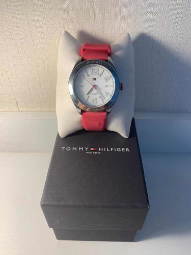 relógio feminino tommy hilfiger pulseira borracha rosa