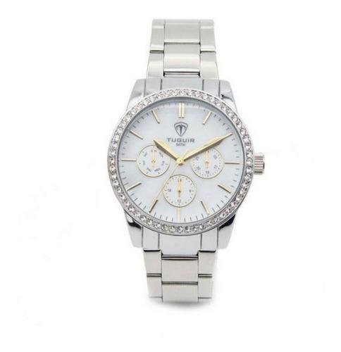 relógio feminino tuguir analógico 5028 prata