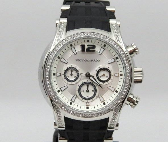 f9a25273747 Relógio Feminino Victor Hugo Vh10062lss 04 Borracha Preto - R  912 ...