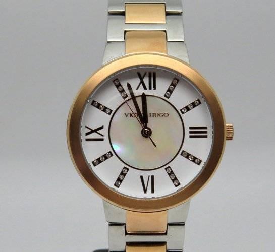 2cd1f56f1ef Relógio Feminino Victor Hugo Vh10138lssr 28m Rosê Com Prata
