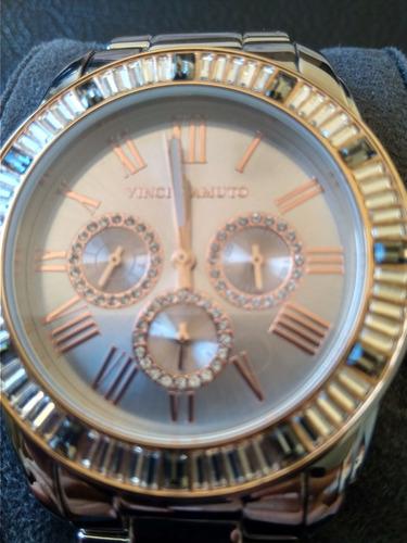 relógio feminino vince camuto vc/5158rgrg swarovski
