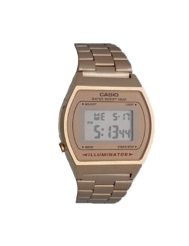 e48f4a5a180 Relógio Feminino Vintage Casio Rose Cobre Alarme Aço - R  99