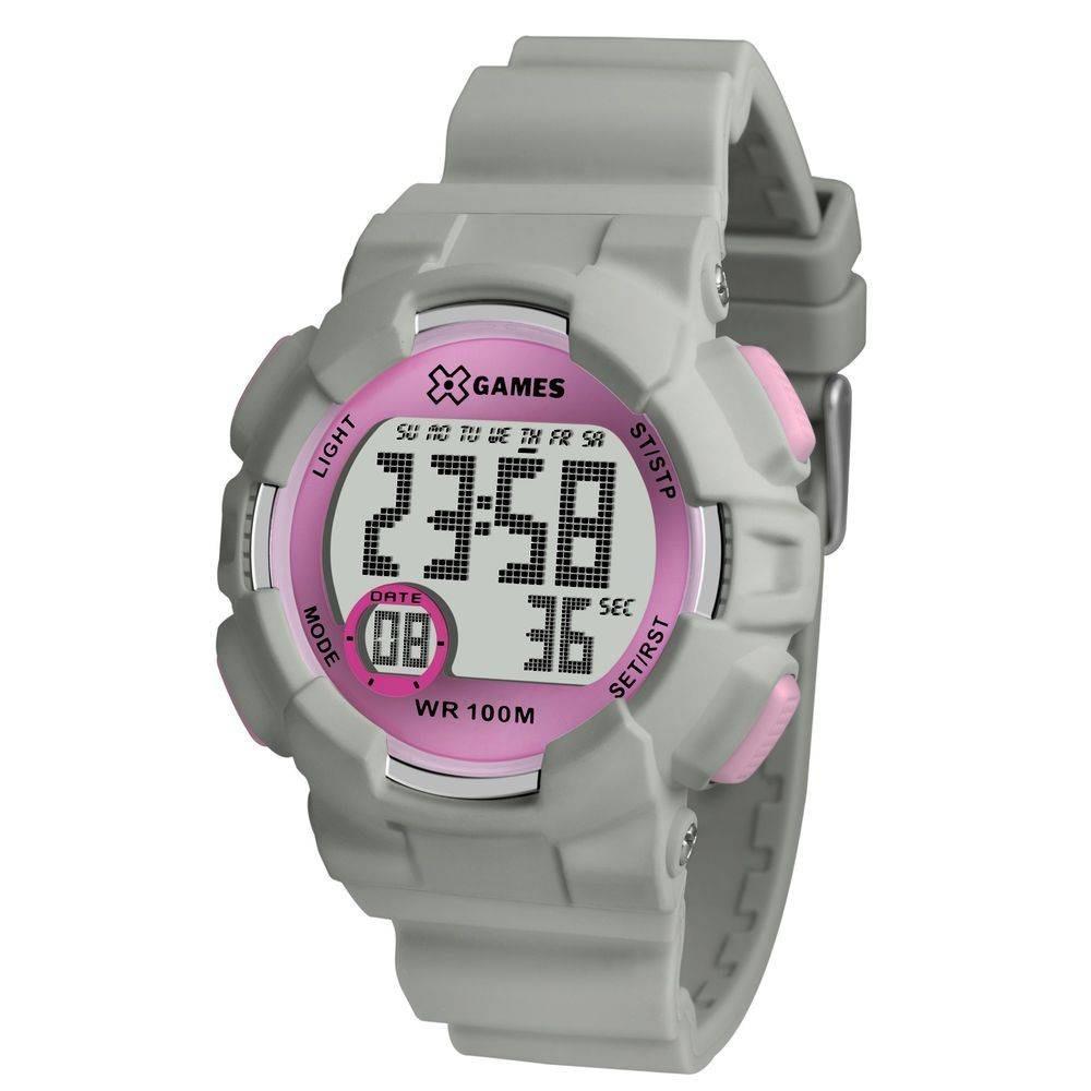 b2df7b7a0c2 Relógio Feminino X-games Xmppd491 Bxix Digital Cinza rosa - R  159 ...