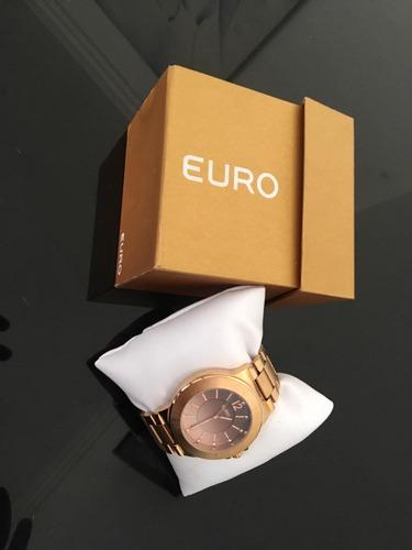 relogio femino euro - model. eu2035gt/4t