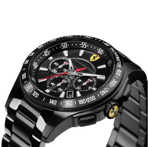 relógio ferrari 830046 caixa aço fibra de carbono e cerâmica
