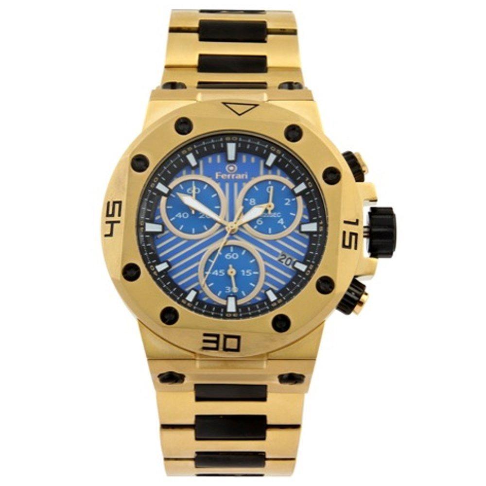 c45126e7943 Relógio Ferrari Dourado Cronógrafo T12jo52b Original