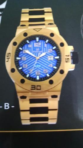 relógio ferrari masculino dourado t12ja52 original e barato