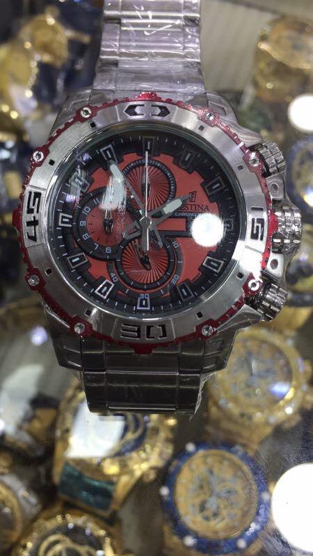 748615de690 relogio festina chrono dourado vermelho top promoção. Carregando zoom.