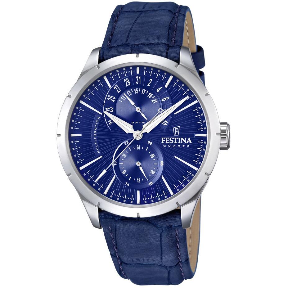 039be15cecb relógio festina chronograph azul f16573-7. Carregando zoom.