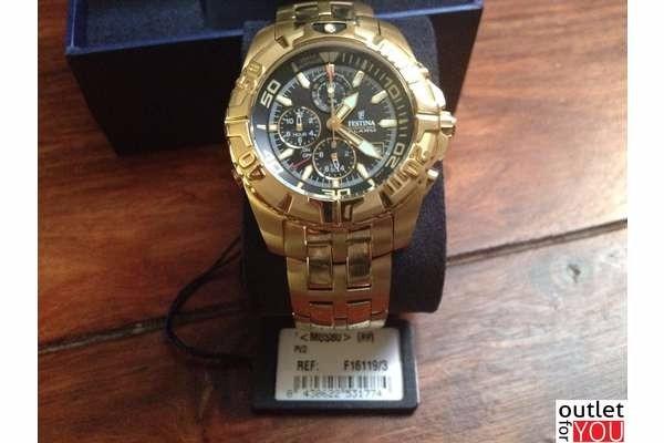 cb6987dd008 Relógio Festina Dourado F16119-3 Original Garantia 2 Anos - R  990 ...