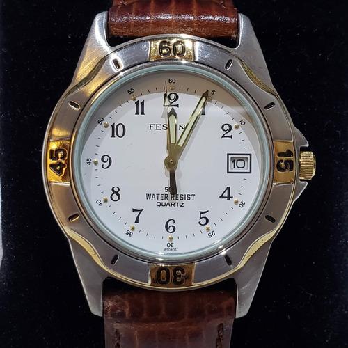 relógio festina original 6508 pulseira couro