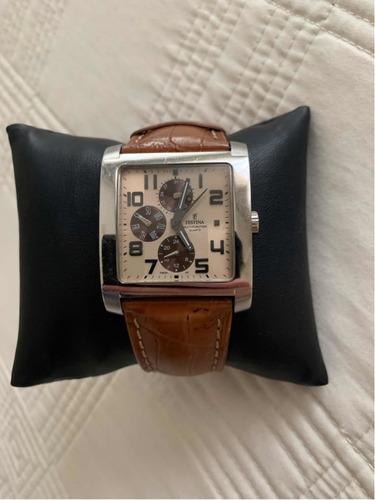 relógio festina original pulseira couro marrom