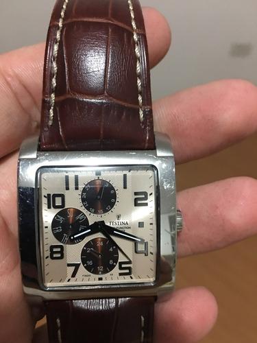 relógio festina original _ pulseira couro _ modelo f16235