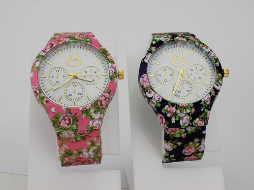 relógio florido original orizom original kit com 2