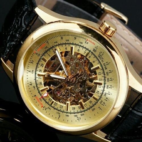 relógio forsining constellation mecânico water resist 3 atm