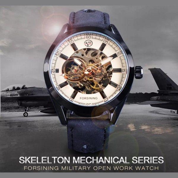 99ab4e97aba Relógio Forsining Original Analógico Esqueleto Automático - R  288 ...