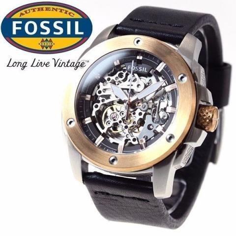 7a444739c2954 Relógio Fossil Automatico Me3082 0kn 2016 Esqueleto Oferta - R ...